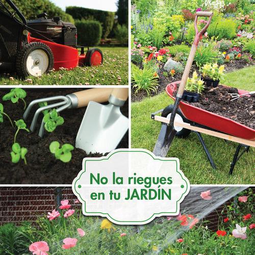 No la riegues en tu jardín