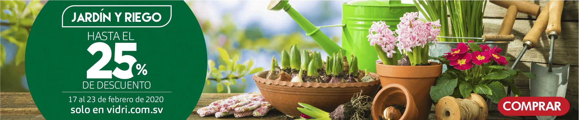 Jardin y riego